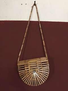 NEW Bamboo bag half circle tas bambu selempang handmade bali setengah lingkaran