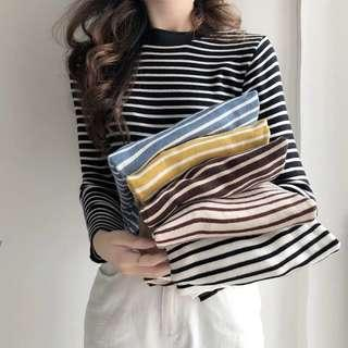 6 colours stripped sweater