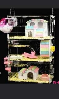 3 tier Hamster Acrylic Cage