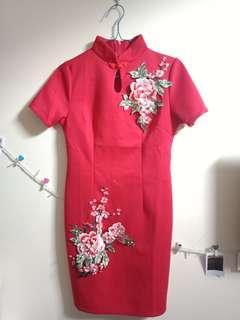 Dress sincia merah