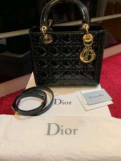 LADY DIOR MEDIUM BLACK