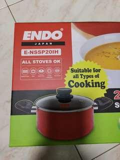 Endo 20cm non-stick Pot with Lid