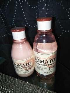 Skin Food Premium Tomato Whitening Toner and Emulsion