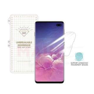 🚚 Samsung S10 Plus/S10/S10E Nano Coat Unbreakable Soft Screen Protector Film