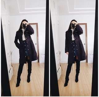 Violet Wool Coat