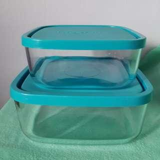Square Glass Container (Set of 2)