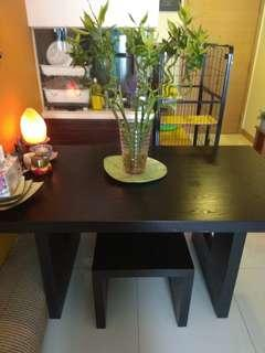 Zen dining table with 4 chairs for quicksale!