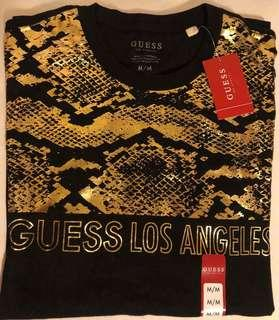 AUTHENTIC GUESS MNS Jared Fashion Crew (Black/Gold)