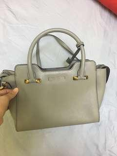 Charles & keith saffiano work bag