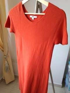 New Uniqlo 3D cotton oranges dress