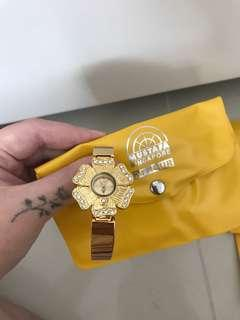 Womens watches jam tangan gold emas zirconia
