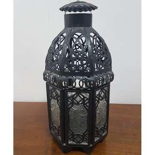 Candle Holder Lantern Hanging Black