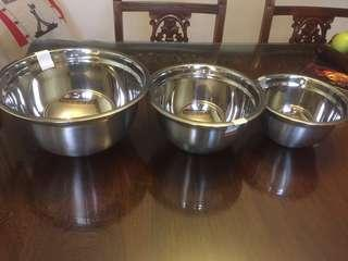 Mixing bowl set (Stainless steel)