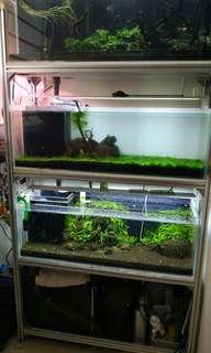 4 tier 3*1*1 crystal overflow tank set