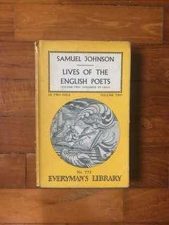Samuel Johnson - Lives of the English Poets Volume Two: Congreve to Gray (Everyman's Library, 1968)