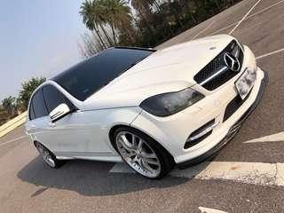 Benz w204 c300 AMG 改c250套件 四出