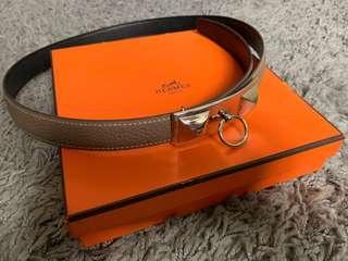 Hermes reversible women's belt (Sydney Palladium buckle)