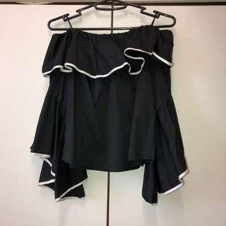 Zara Off Shoulder Top with Flared Sleeves