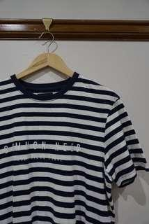 Common news blue and white stripe tee