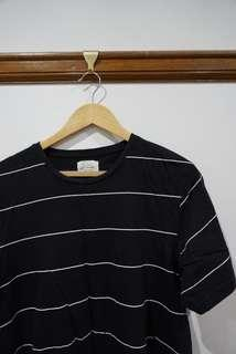 H&M black and white stripe tee