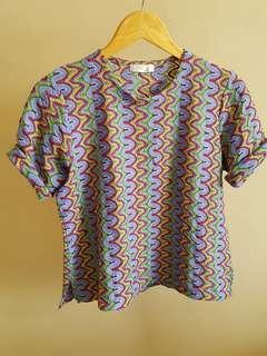 Blouse Batik Rainbow