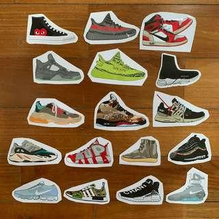 Hypebeast Assorted Sneaker Stickers