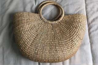 Rattan Bag / Straw Bag / Summer Basket Bag