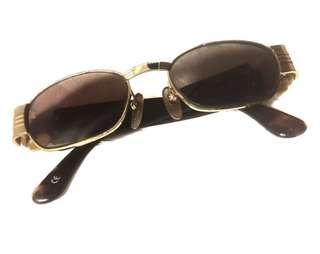GIANNI VERSACE S72 Sunglasses Vintage Gold Brown Medusa Power