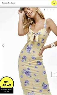 BNWT F21 floral midi dress
