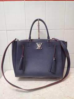 LV marine blue leather lockmeto bag