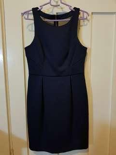 Forever New Satin Navy dress s10