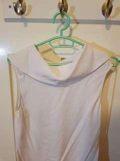 Veronika Maine white boat neck top s8