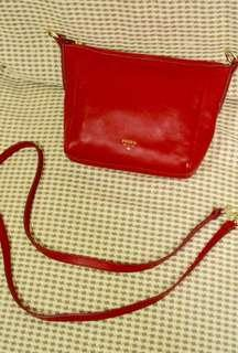 Original Red Fossil Sling Bag