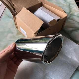 Chrome Silver Exhaust Tips for Audi A4 A5 Q8