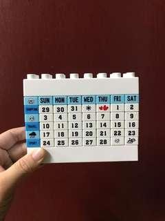 🚚 積木月曆