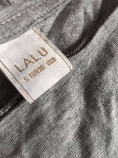 LALU's grey short sleeve