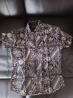 Kemeja Batik Manzone XXL Slim Fit