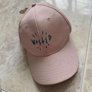 Wasted dusty pink cap