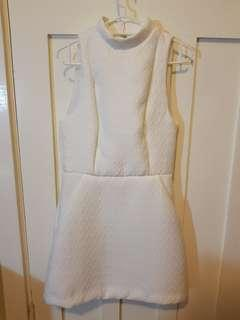 Kookai white quilt dress