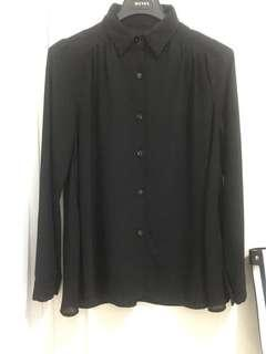 See - trough Black Blouse