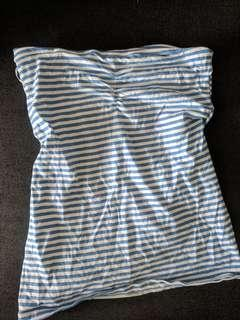 Cotton On Blue and White striped tube top
