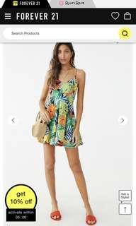 BNWT F21 Tropical print dress