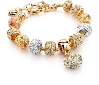 🚚 Gold-color Charm Bracelets