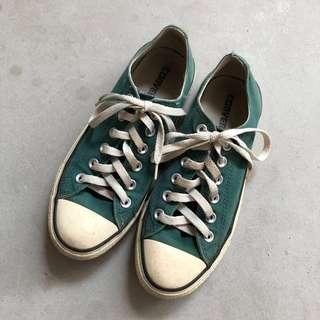 Converse All-Star Low Top Green Sneakers