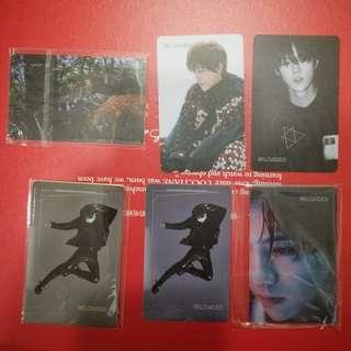 Luhan Reloaded China ver pc (5 pcs a set, lacking of the red face & bnw close up) + 1x Intl sticker version - RM225