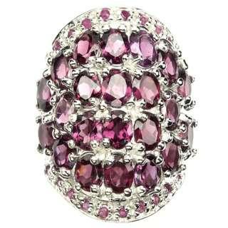 Pink Raspberry Rhodolite Garnet Ruby Ring