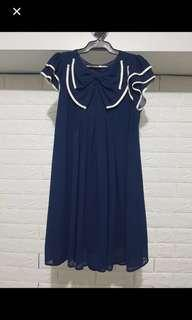 Cute Navy Dress by Forever21