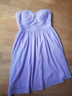 Doublewoot Lilac Tube Bridesmaid Dress