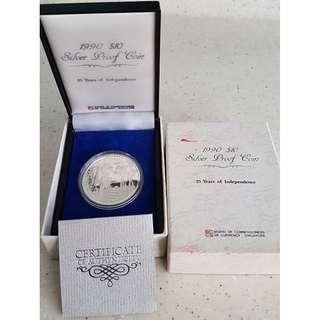 1990 $10 Silver Proof Coin