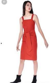 TEM tie front Scarlet dress